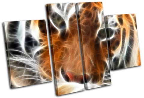 Tiger Fractal Orange Animals - 13-0037(00B)-MP17-LO